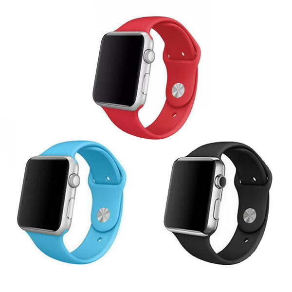 Silicone Sport Bands for Apple Watch Series 4 3 2 1 - BandGet