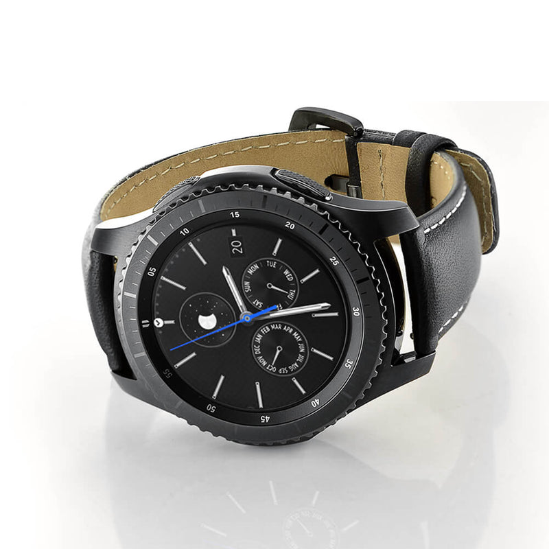 Genuine Leather Straps with Metal Clasp for Samsung Gear S3 - BandGet