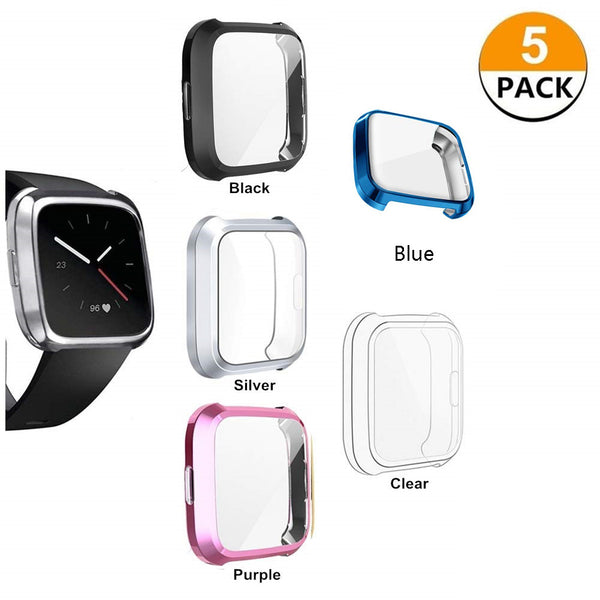 5-Pack Soft All-Around Screen Protector for Fitbit Versa Lite Edition - BandGet