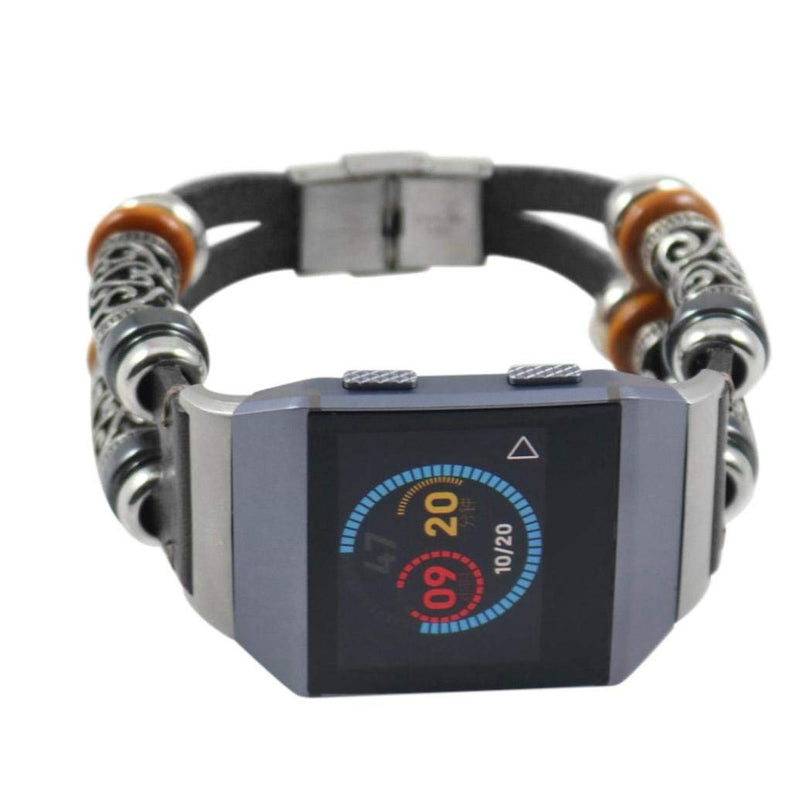 Retro Leather Replacement Wristbands for Fitbit Ionic - BandGet