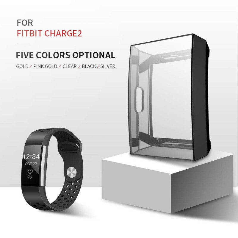 2 Pack Full-Cover Case Bumper for Fitbit Charge 2 - BandGet