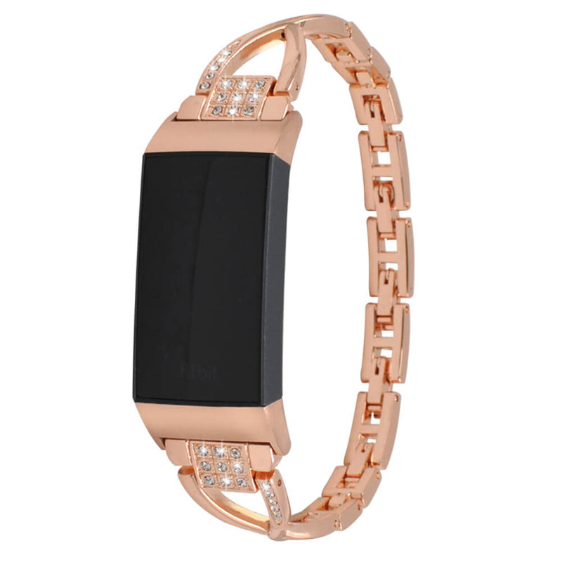 X-shaped Diamond Stainless Steel for Fitbit Charge 3 & 3 SE - BandGet