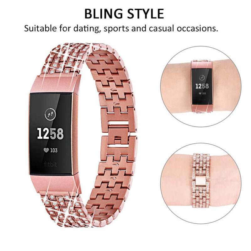 Diamond Wristbands for Fitbit Charge 3 & 3 SE - BandGet