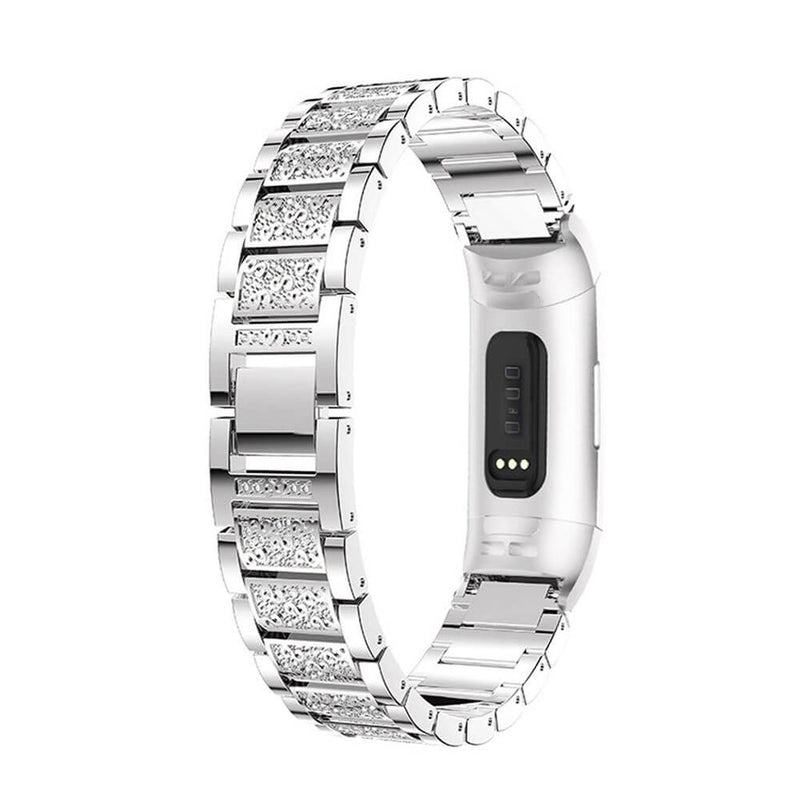 Stainless Steel Diamond for Fitbit Charge 3 & 3 SE - BandGet