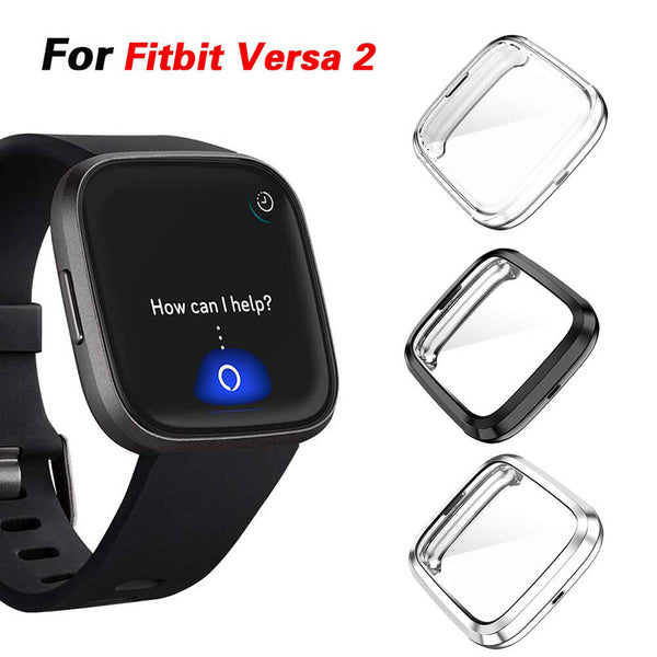 3-Pack Full Coverage Soft TPU Case for Fitbit Versa 2 Smartwatch