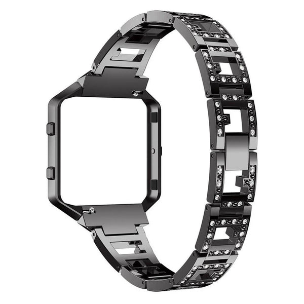 Rhinestone Stainless Steel Chain Bands for Fitbit Blaze - BandGet