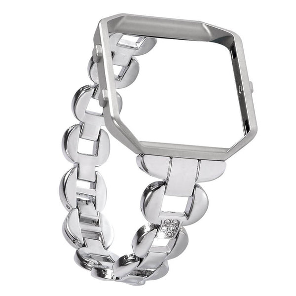 Stainless Steel Bracelets with Rhinestone for Fitbit Blaze Frame - BandGet