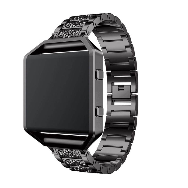 Stainless Steel Diamond Straps with Frame for Fitbit Blaze - BandGet