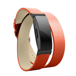 Double Wrap Leather Bracelets for Fitbit Inspire & Inspire HR - BandGet