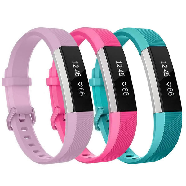3-Pack Soft Sport Replacement Band for Fitbit Alta / Alta HR / Ace - BandGet