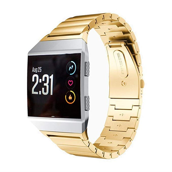 Classic Solid Stainless Steel Wristbands for Fitbit Ionic - BandGet