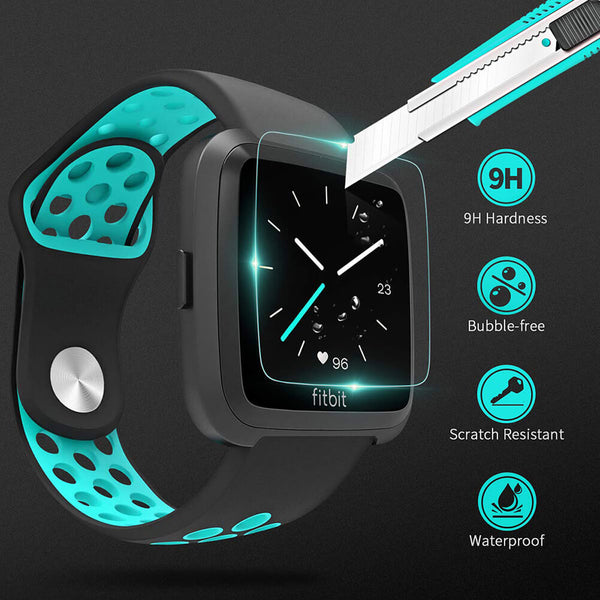 3-Pack Tempered Glass for Fitbit Versa/Versa Lite/Versa SE - BandGet