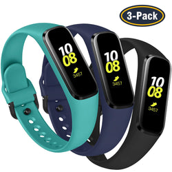 3-Pack Soft Waterproof Silicone Sport Wristbands for Galaxy Fit E - BandGet