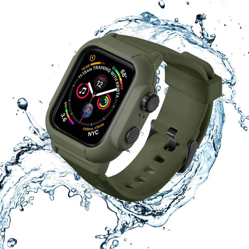 IP68 Waterproof Case Watch Band for iWatch 5 4 3 2 - BandGet