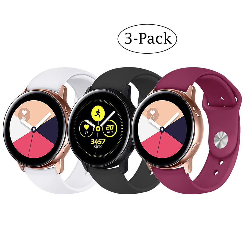 3Pack Stylish Sport Silicone Bands for Samsung Gear S2 - BandGet