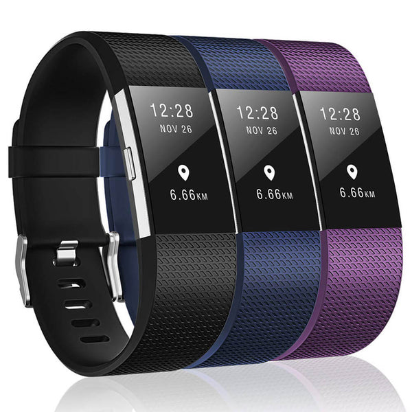 3-Packs Sport Bands Replacement for Fitbit Charge 2 - BandGet