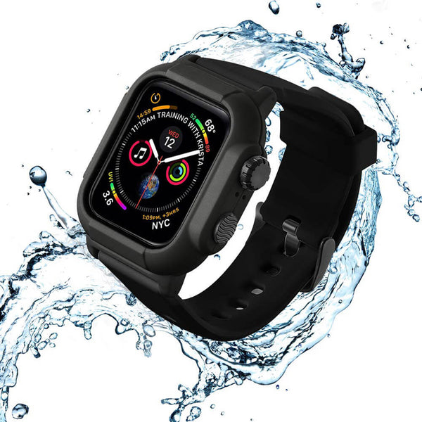 Apple Watch 5 IP68 Waterproof Case Watch Band - Black