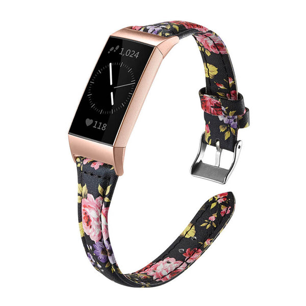 Slim Premium Leather Replacement Strap for Fitbit Charge 3 & Charge 3 SE - BandGet