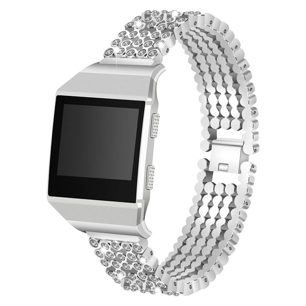 Bling Women Stainless Steel Bracelets for Fitbit Ionic - BandGet