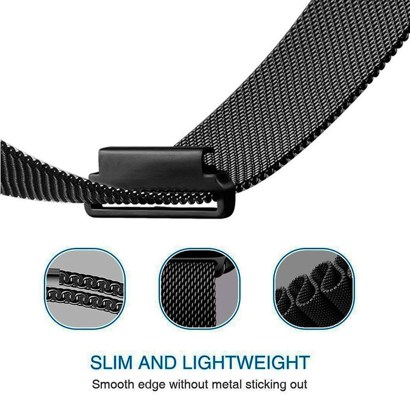 Stainless Steel Mesh Loops Replacement for Samsung Gear Sport - BandGet