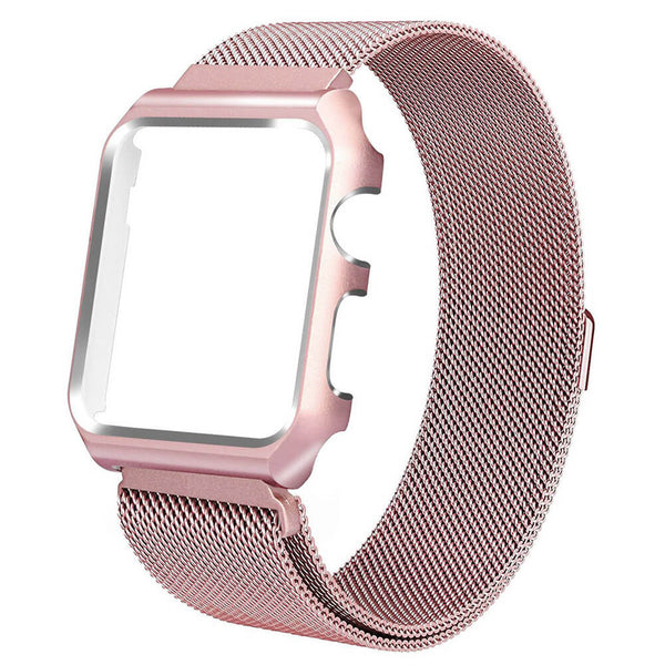 Milanese Loop with Metal Case for Apple Watch 5 4 3 2 1 - BandGet