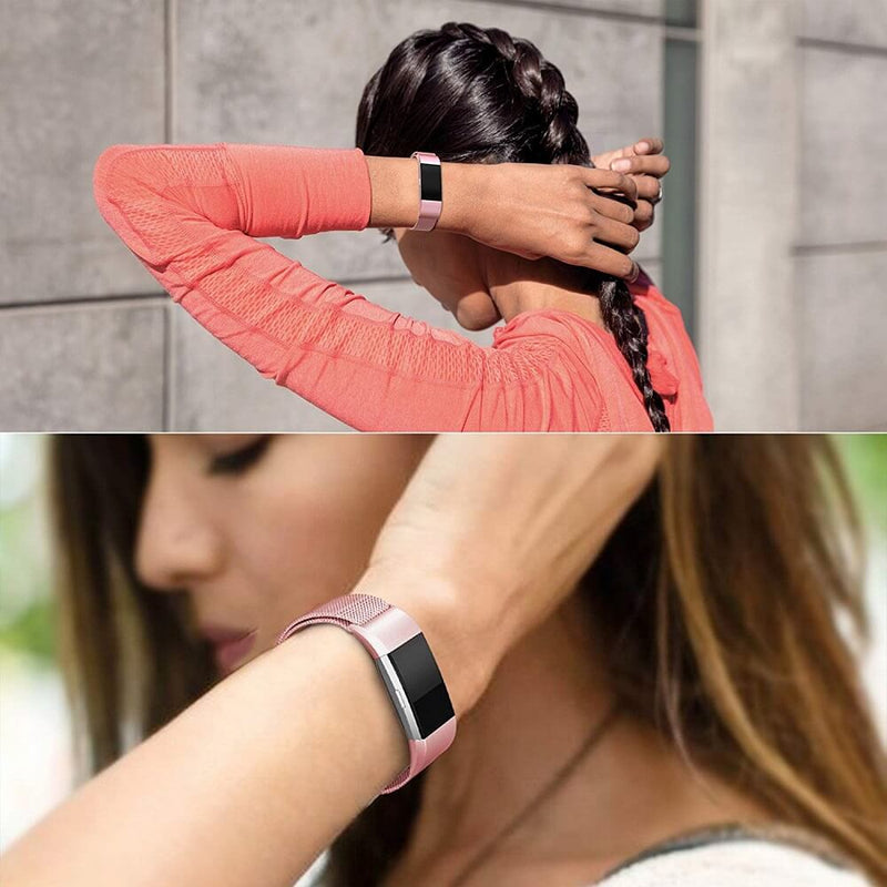 Milanese Loop Bands Replacement for Fitbit Charge 2 - BandGet