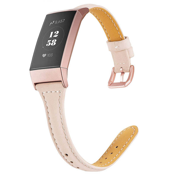 Slim Leather Straps Replacement for Fitbit Charge 3 & Charge 3 SE - BandGet