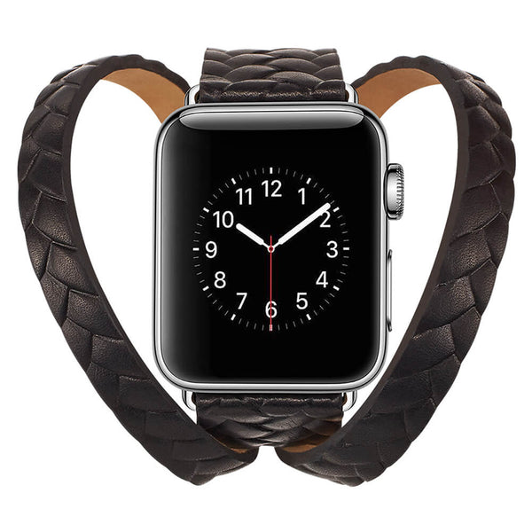 Classic Leather Woven Straps for Apple Watch 5 4 3 2 1 - BandGet
