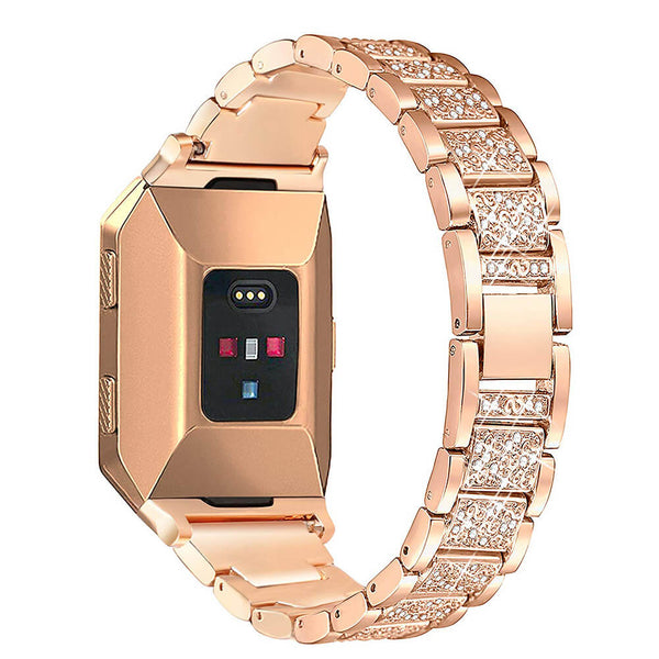 Bling Stainless Steel Women Bracelets for Fitbit Ionic Smartwatch - BandGet