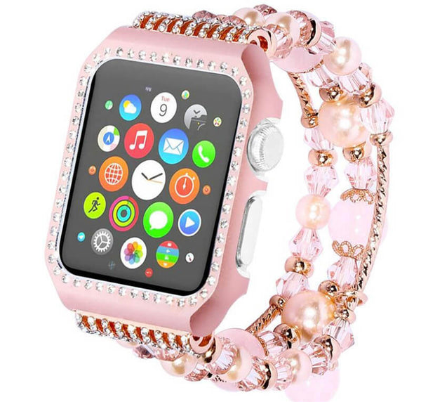 Luxury Rhinestone Case Wristband for Apple Watch 3 2 1 - BandGet