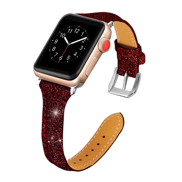 Bling Leather Wristband for Apple Watch 5 4 3 2 1 - BandGet