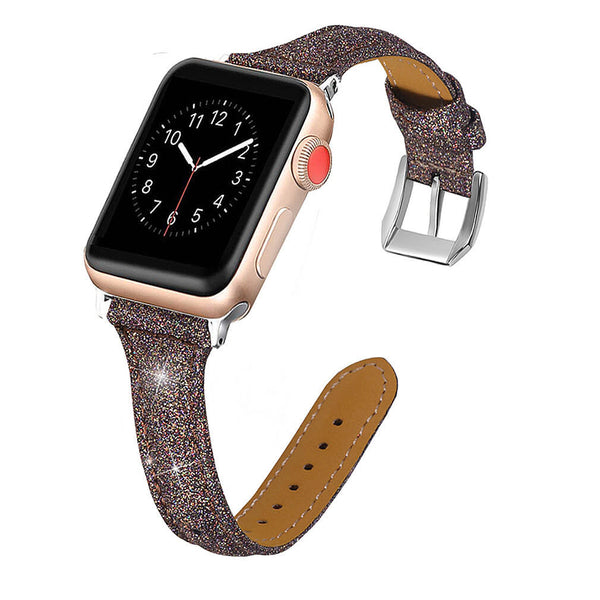 Bling Leather Wristband for Apple Watch 5 4 3 2 1
