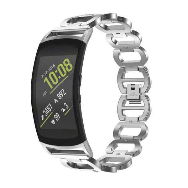 Steel Metal Watch Bands Compatible for Samsung Gear Fit2 - BandGet