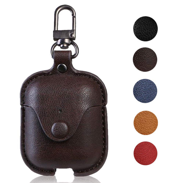 Leather Vintage Case for Apple AirPods 2 & 1 with Keychain - BandGet