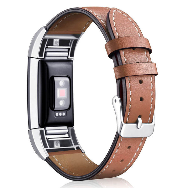 Genuine Leather Wristband Replacement for Fitbit Charge 2 - BandGet