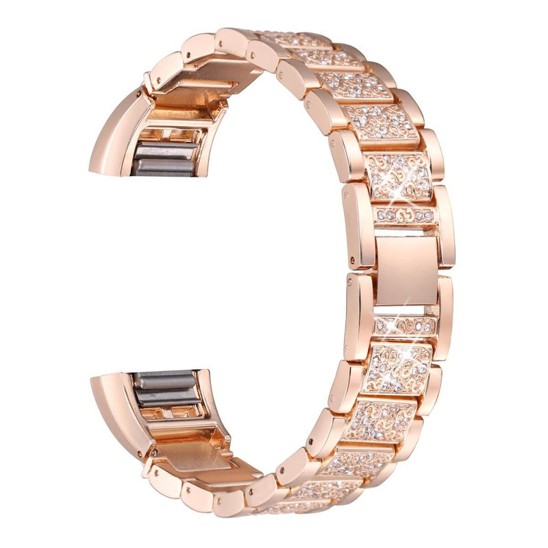 Metal Rhinestone Bracelet  Replacement for Fitbit Charge 2 - BandGet