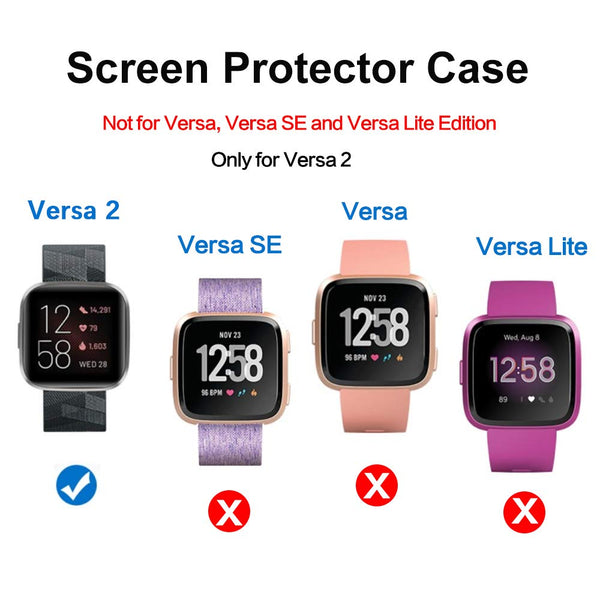 2 Pack Full Soft Protective Screen Case forFitbit Versa 2 - BandGet