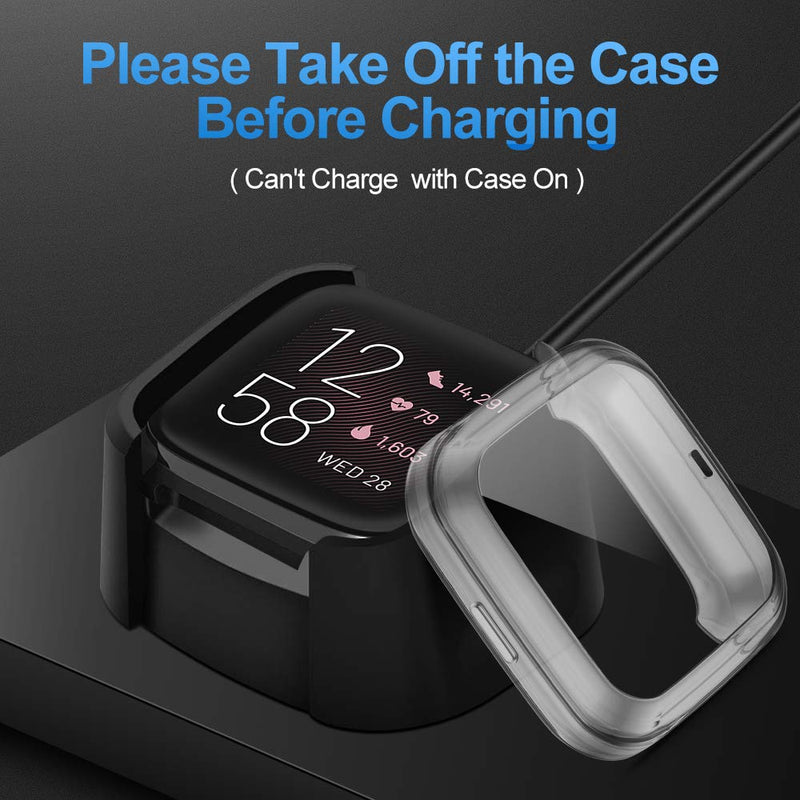 All-Around Silicone Shockproof Screen Protector Cover For Fitbit Versa 2