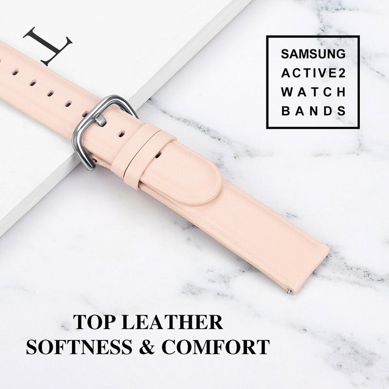 Leather Straps for Samsung Galaxy Watch Active 2 44mm 40mm - BandGet