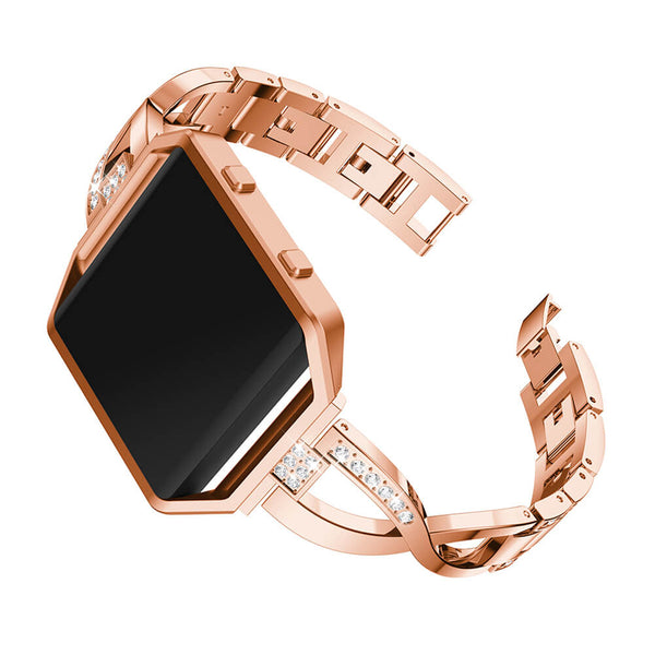 Bling Rhinestone Stianless Steel Wristbands for Fitbit Blaze - BandGet