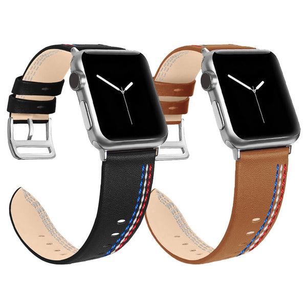 Leather Strap Replacement for Apple Watch 5 4 3 2 1 - BandGet