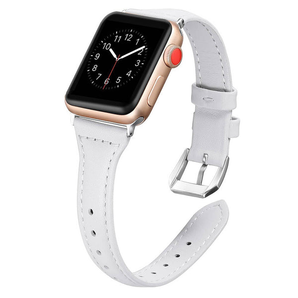 Slim Leather Wristbands for Apple Watch 5 4 3 2 1 - BandGet