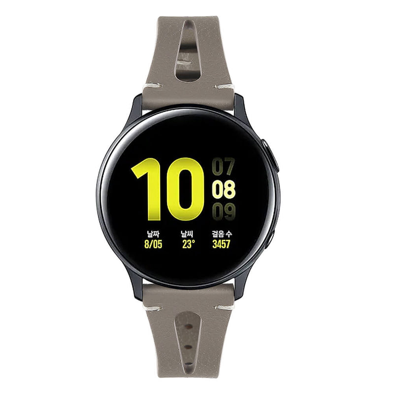 Leather Straps for Samsung Galaxy Watch Active 2 40mm 44mm - BandGet