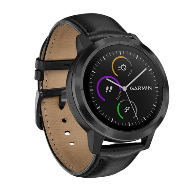 Genuine Leather Bands for Garmin Vivoactive 3 - BandGet