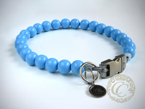 Handmade dog collar Baby Blue Maxi | Dog Collars | Cat Collars | CollarCrafts