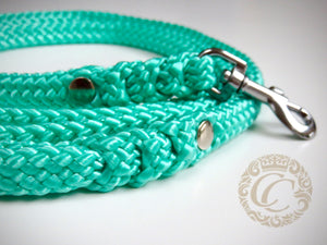 Dog leash for small & medium dogs Mint | Dog Collars | Cat Collars | CollarCrafts