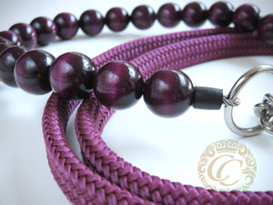 Handmade dog collar Aubergine Maxi | Dog Collars | Cat Collars | CollarCrafts