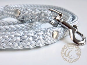 Dog leash for small & medium dogs Silver | Dog Collars | Cat Collars | CollarCrafts
