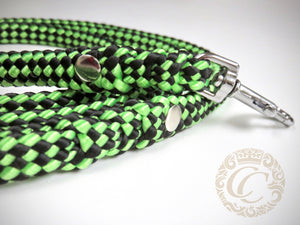 Dog leash for small & medium dogs Black & Green | Dog Collars | Cat Collars | CollarCrafts