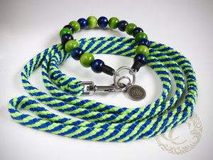 Dog leash for small & medium dogs Blue & Green | Dog Collars | Cat Collars | CollarCrafts